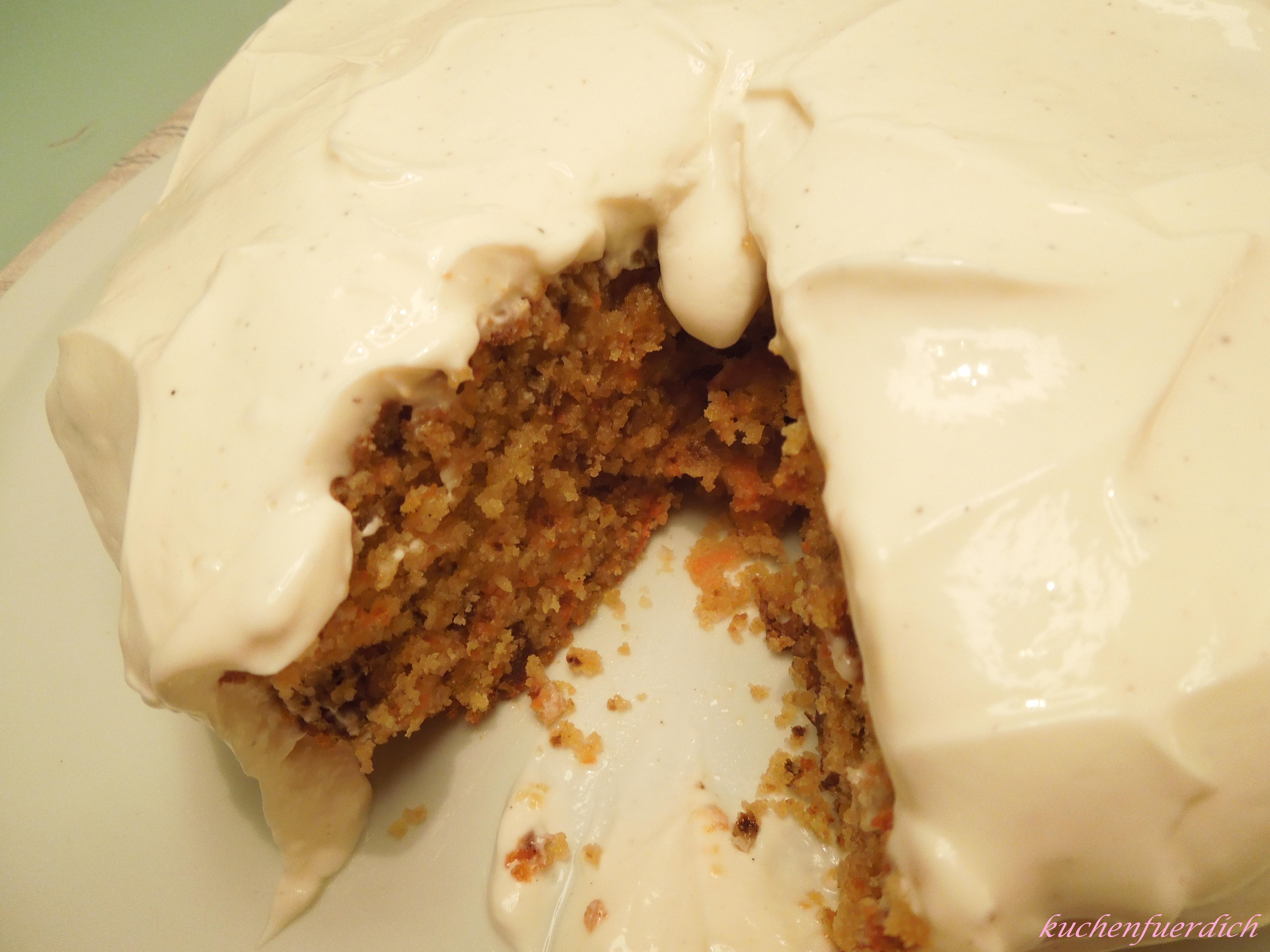 Karotten Walnuss Kuchen Mit Vanille Mascarpone